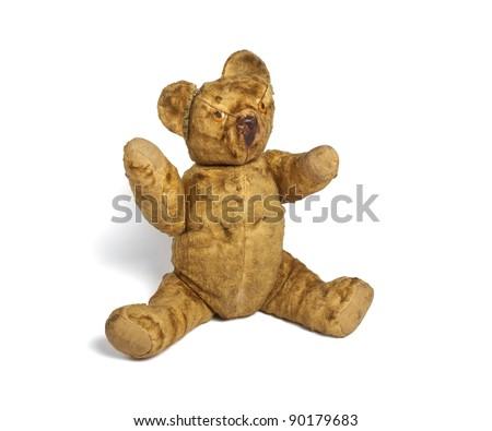 60's teddy bear - stock photo