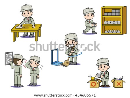 5S - workplace of slogan - stock photo