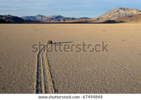 """Sailing stone"" on the Racetrack Playa in Death Valley National Park, California"