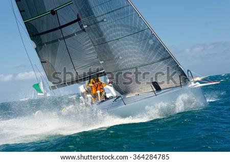 Sailing yacht.  Yachting. Sailing - stock photo