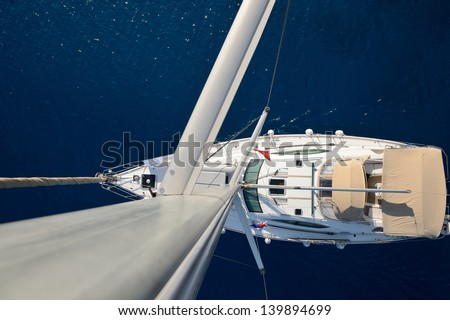 Sailing.Yachting concept - stock photo