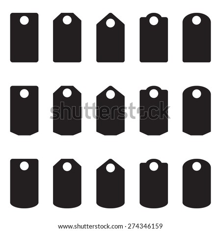 Sale, blank labels template price tags set blank labels, - stock photo