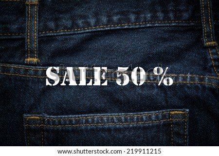 sale 50% in white background - stock photo
