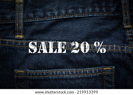 sale 20% in white background - stock photo