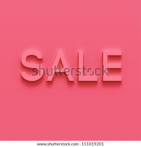 """""""Sale"""" sign on bright background. Shop sign. 3d typography illustration for your design - stock photo"""