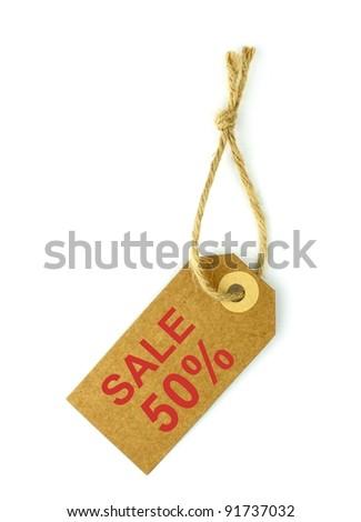 50% Sale tag - stock photo