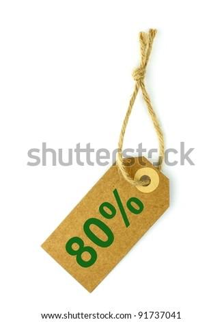 80% Sale tag - stock photo