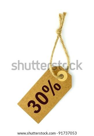 30% Sale tag - stock photo