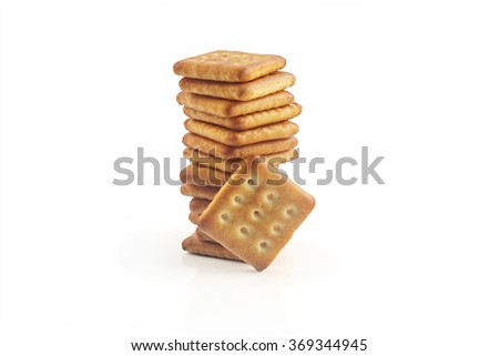 Salt and Sugar Biscuits  - stock photo