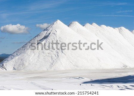 Salt Mountains/Mountains of salt ready to be working before production.