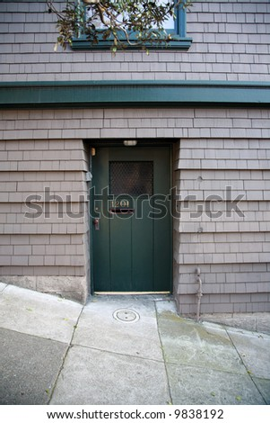 """""""san francisco"""" Doorway series, Various Doors of one of the worlds most famous and beautiful cities - stock photo"""