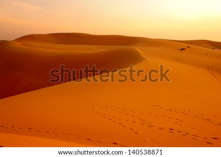 Sand Dunes at Sunrise - stock photo