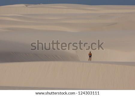 Sand dunes in Brazil - stock photo