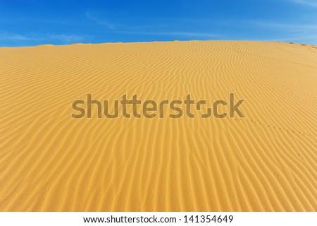 Sand Pattern on Sand Dune - stock photo