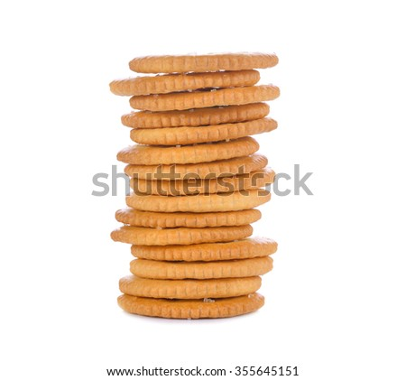 sandwich cookies on white background
