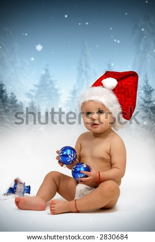 Santa Claus - Happy New Year - stock photo