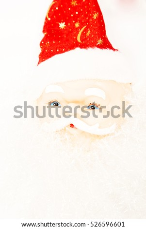 Santa Clause on white background, christmas decoration