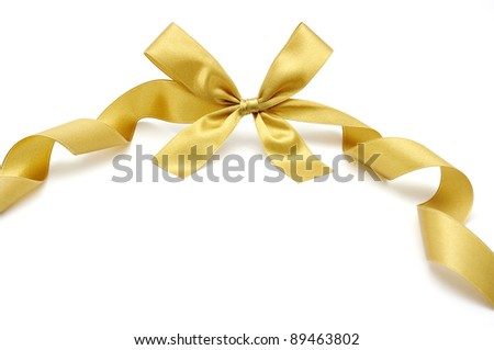 satin ribbon on white - stock photo