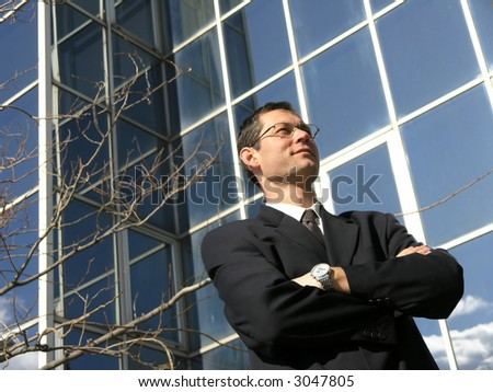 Satisfied  professional. - stock photo
