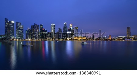 Save to a lightbox?   find similar images   share? Singapore city skyline - stock photo