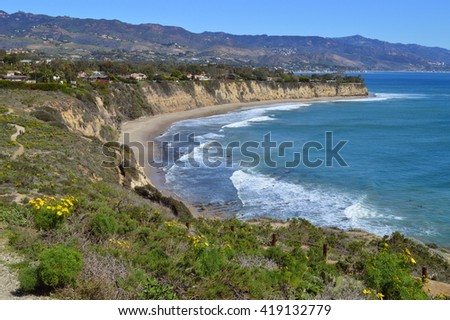 Scenic view from the top of Point Dume Natural Preserve, Malibu, CA