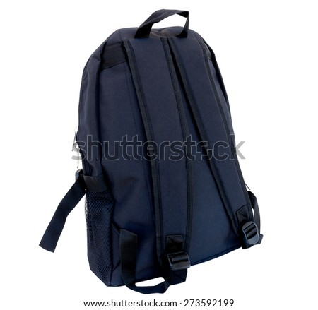 school backpacks is isolated on white.