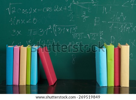 School books - stock photo