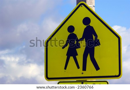 school crossing sign - stock photo
