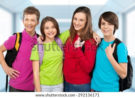 school, kid. - stock photo