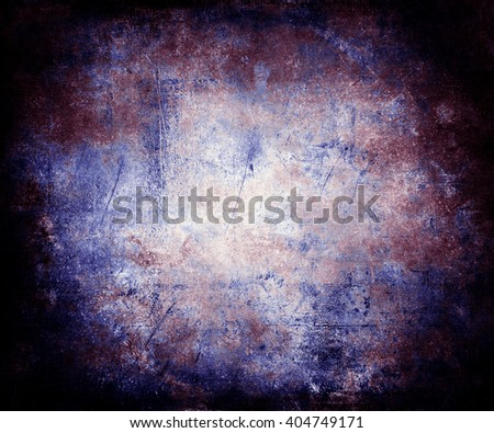 Scratched Vintage Grunge Colorful Background With Faded Central Area For Your Text Or Picture - stock photo