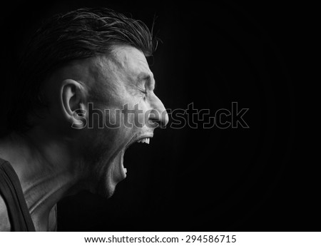 screaming man