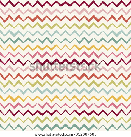 Seamless Chevron Pattern. colorful Vintage zigzag background. raster version - stock photo