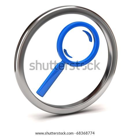 Search icon - stock photo
