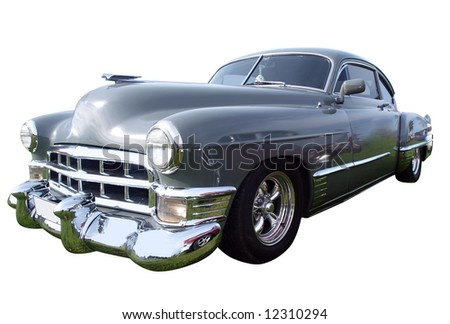 1949 Sedanette isolated with clipping path - stock photo