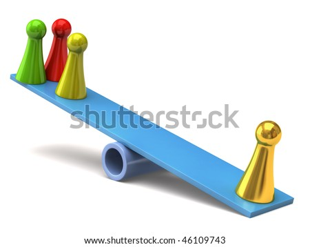 seesaw - stock photo
