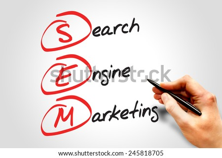 SEM Search Engine Marketing, business concept - stock photo