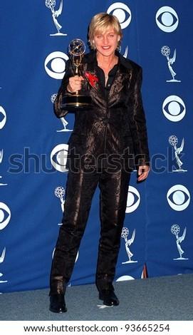 14SEP97:  ELLEN DEGENERES at the Emmy Awards in Pasadena. - stock photo