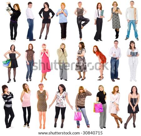 separate people. 23 separate people in 3 rows s