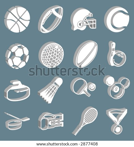 series of 3d sport icons. Raster version - stock photo
