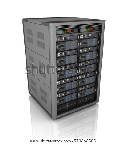 Computer Data Storage Concept Filing Cabinet Stock Illustration ...