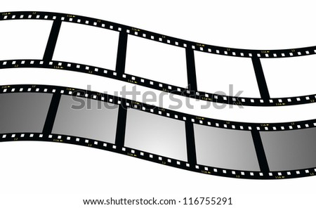 set blank film strip background