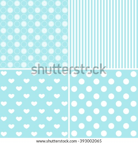 set of 4 background patterns - stock photo