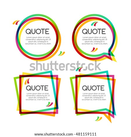 set quote frame, colorful quote frames for modern design.