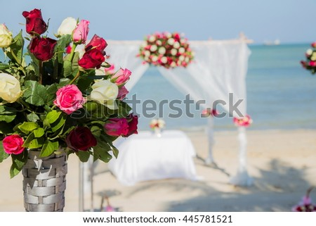 """Setup flowers at the wedding. """