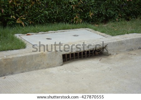 Sewage on Road - stock photo