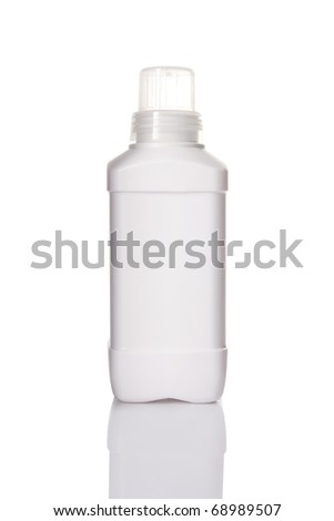 shampoo or detergent  plastic bottle on white background