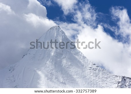 Shangri-La's China's Tibet Aden snow, snow mountain Xian Nairi - stock photo