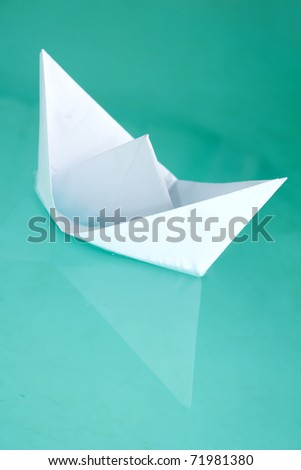 Ship  toy  paper  floats