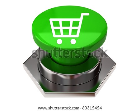 Shopping cart button - stock photo