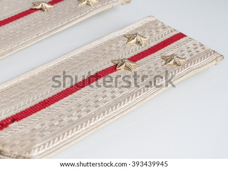 Shoulder straps Lieutenant of russian army isolated on white background - stock photo